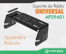 Conheça o mais versátil suporte para rádio da STEELBRAS ANTENAS.